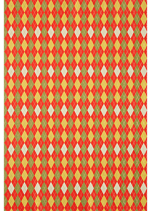 Paper Source Argyle Holiday Wrapping Paper