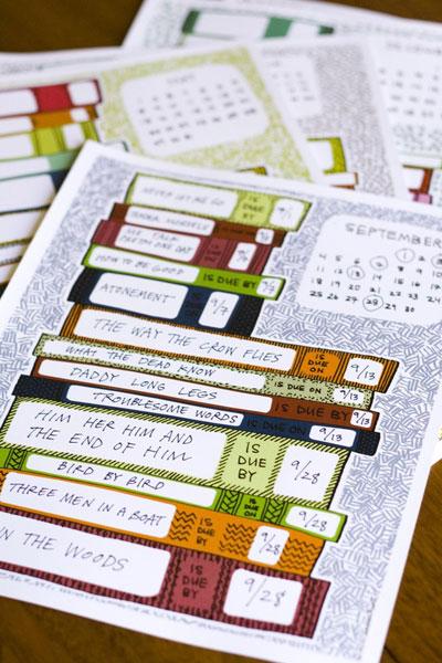 Overdue Book Calendar