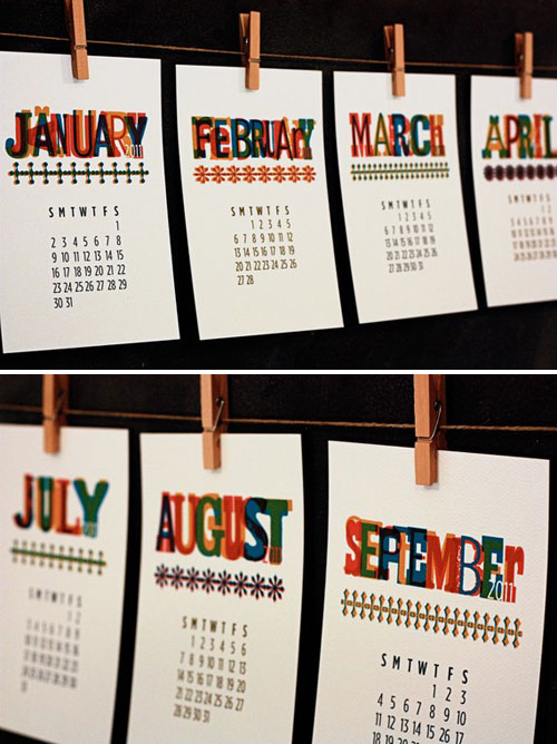 Benign Objects Wood Type Calendar