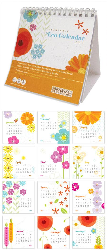 Plantable Paper Botanical Paperworks Calendar