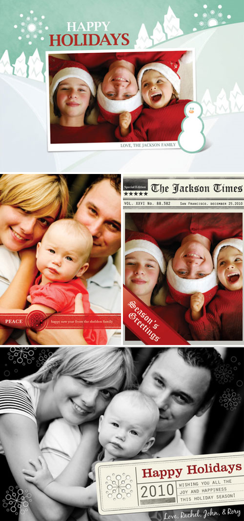 Holiday Photo Cards by Bumble Ink