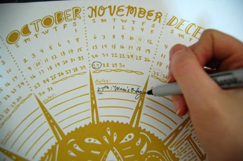 Caitlin Keegan 2011 Round Calendar