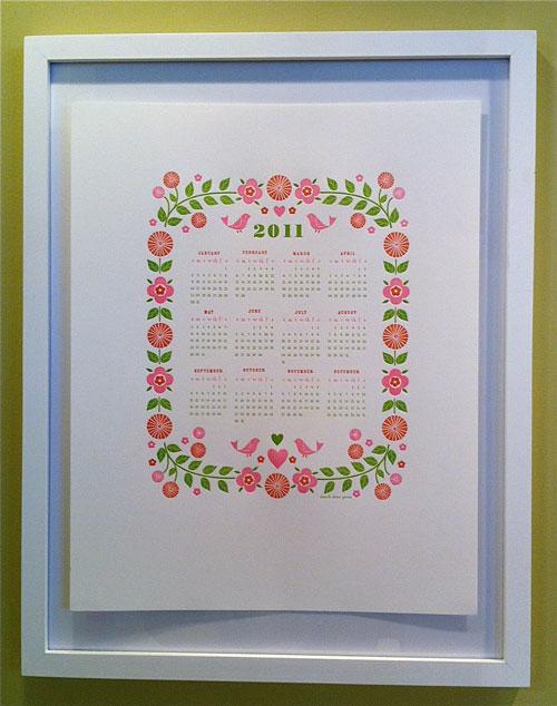 2011 Letterpress Calendar Dutch Door