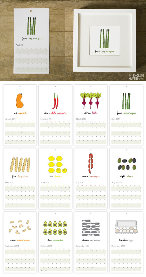 English Muffin Foodie Calendar