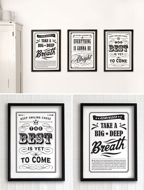 Vintage Positive Message Prints Eva Juliet