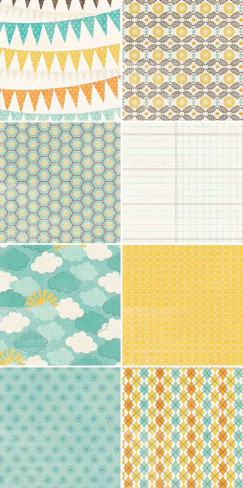 My Mind's Eye Fine & Dandy Scrapbook Paper