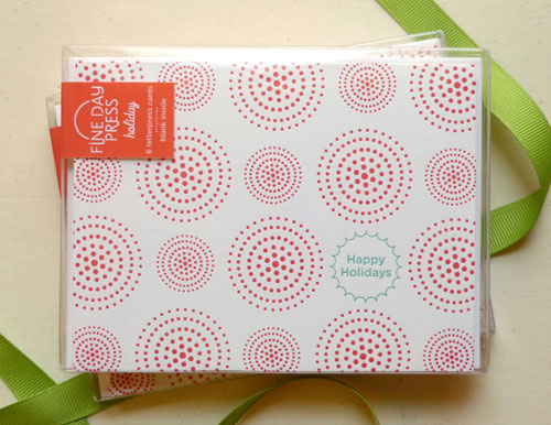 Fine Day Press Letterpress Holiday Dots Cards