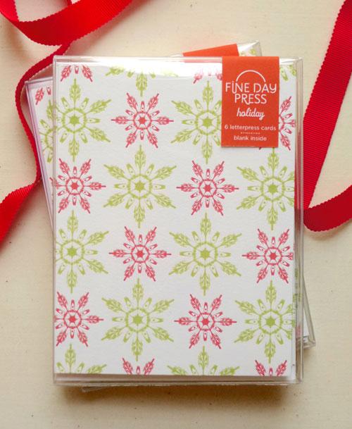 Fine Day Press Snowflake Letterpress Christmas Card