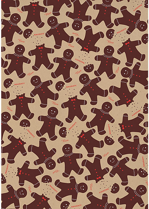 Paper Source Gingerbread Men Gift Wrap