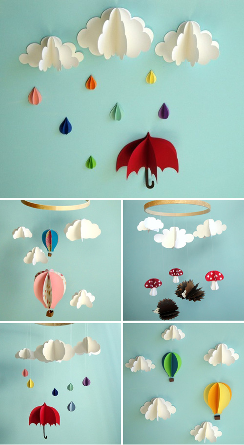 Gosh & Golly 3D Paper Mobiles & Wall Art | Paper Crave