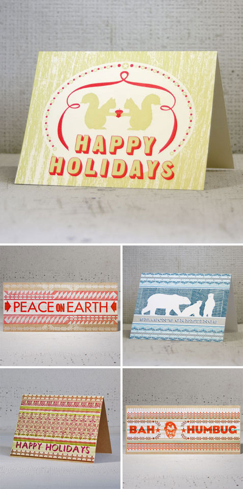 Letterpress Holiday Cards by Hammerpress