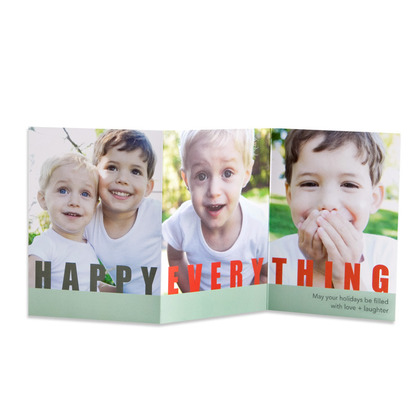Tiny Prints Happy Everything Holiday Photo Card