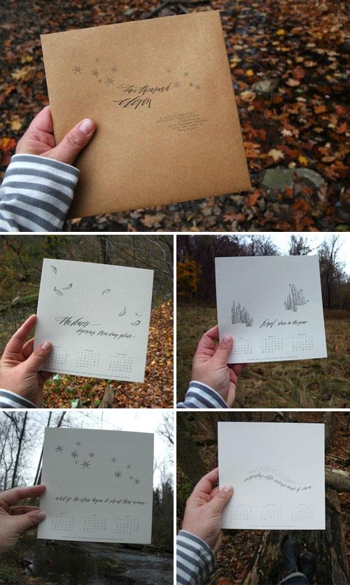 Hello Handmade Paperie Nature's Splendor Calendar
