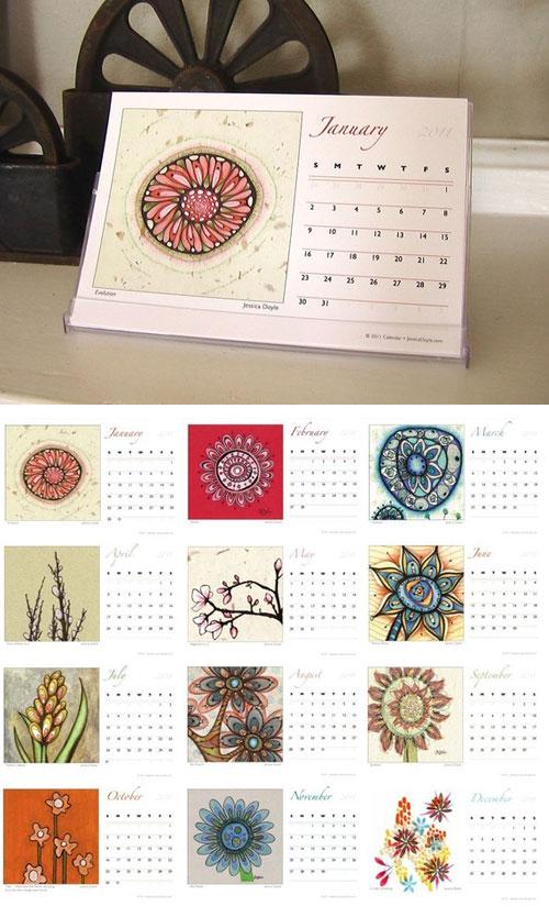 Jessica Doyle Fine Art Print Calendar