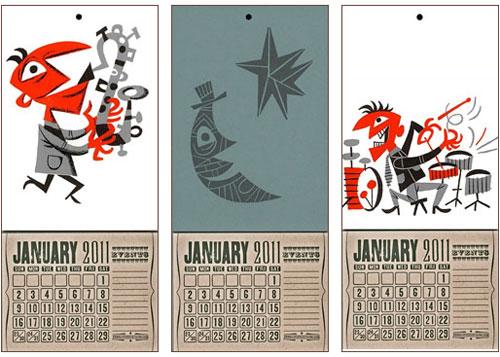 Jim Flora Yee Haw Letterpress Calendar