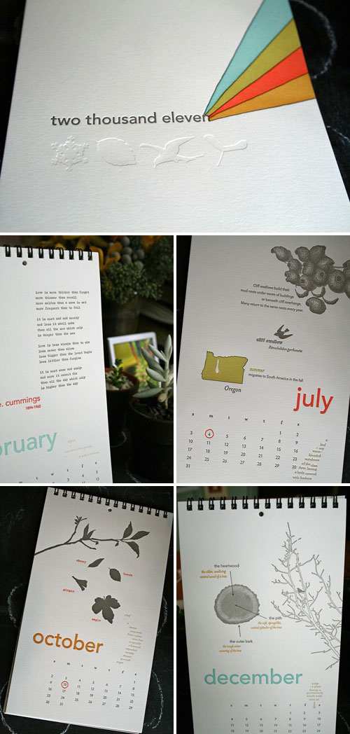 Lark Press 2011 Letterpress Calendar