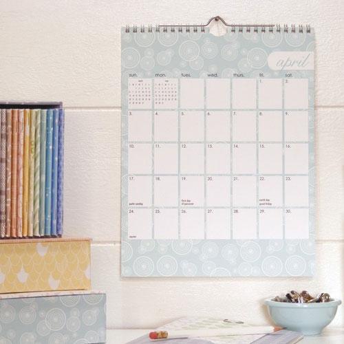 Letter C Design 2011 Calendar