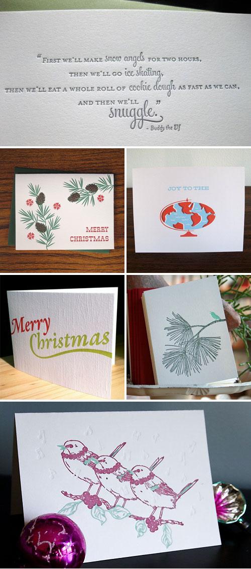 Letterpress Holiday Cards