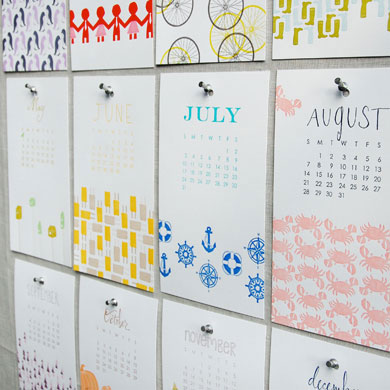 Linda & Harriett 2011 Letterpress Calendar