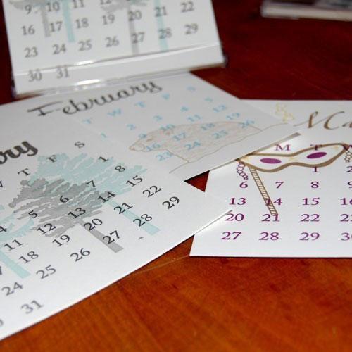 Paisley Tree Letterpress Calendar