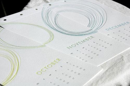 2011 Letterpress Calendar Paper Boat Studios