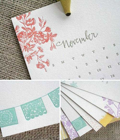 Parrott Letterpress 2011 Calendar