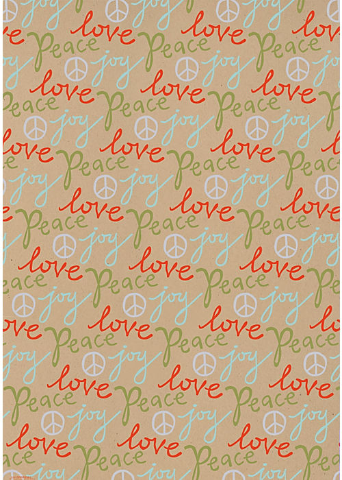 Paper Source Peace Love Joy Gift Wrap