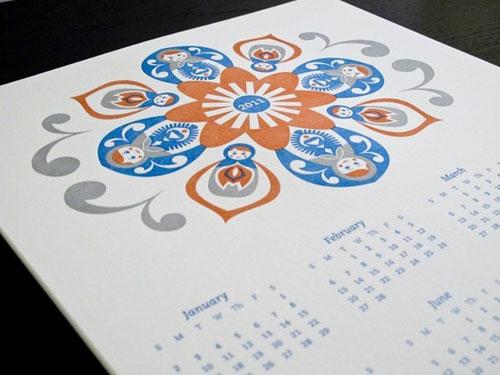 Folk Art Matryoshka Calendar