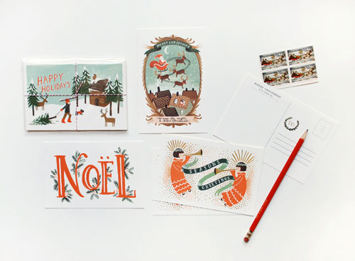Rifle Paper Co Holiday Postcards