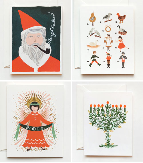 Holiday Christmas Hanukkah Cards Rifle Paper Co.