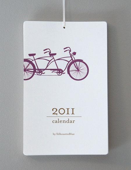 Silhouette Blue Calendar