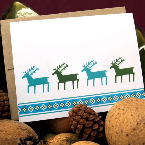 Reindeer Greeting Card Small Talk Studio