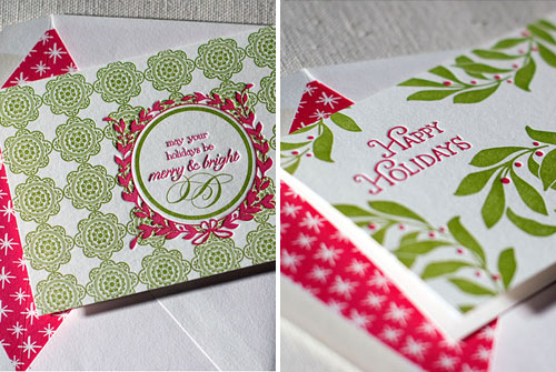 Smock Letterpress Christmas Cards