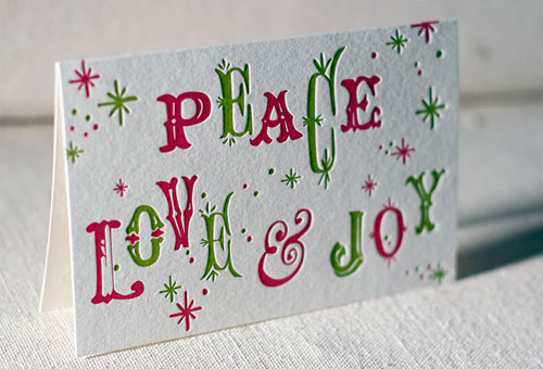 Peace Love Joy Holiday Cards