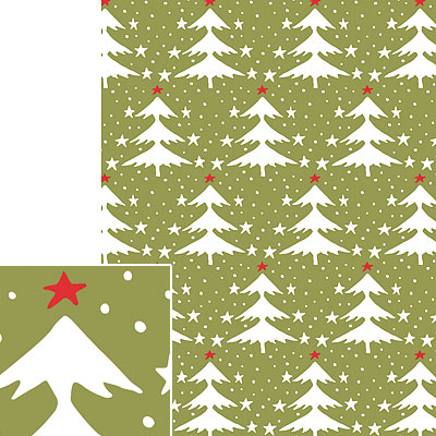 Paper Source Vintage Trees Gift Wrap