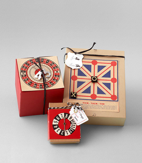 Vintage Game Gift Wrap Craft Idea