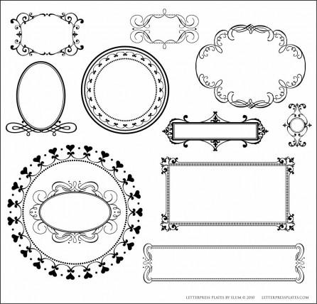 Elum L Letterpress Frame Plates