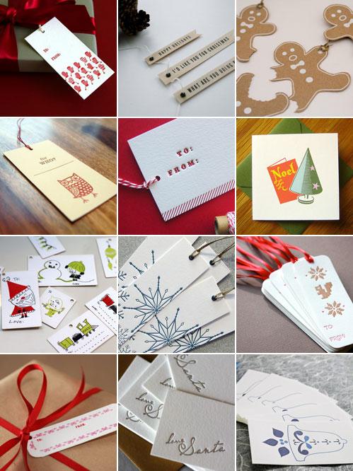 Christmas Gift Tags Roundup