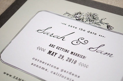 Art Nouveau Save the Date Cards