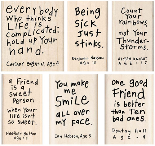 Kate Harper Kid Quotes Rubber Stamps