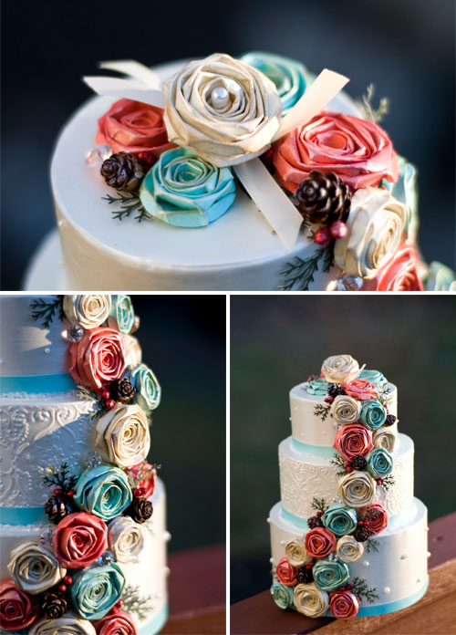 Paper Cake Wedding Decoration