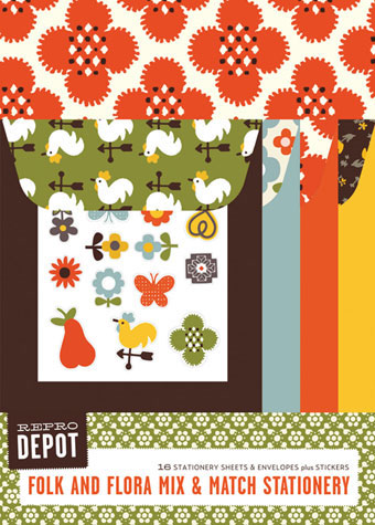 Reprodepot Folk and Flora Mix & Match Stationery