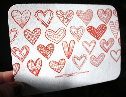 Letterpress Seal and Send Valentine