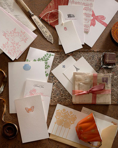 B Designs Letterpress Cards