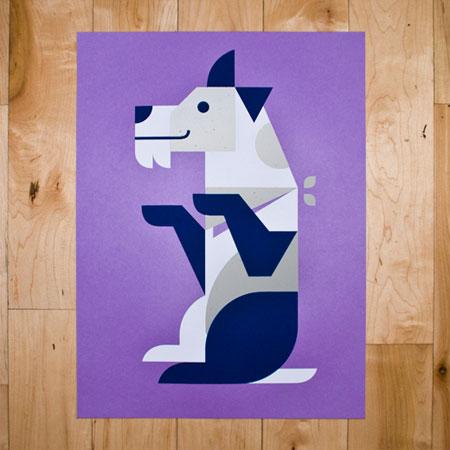 Fox Terrier Screen Print