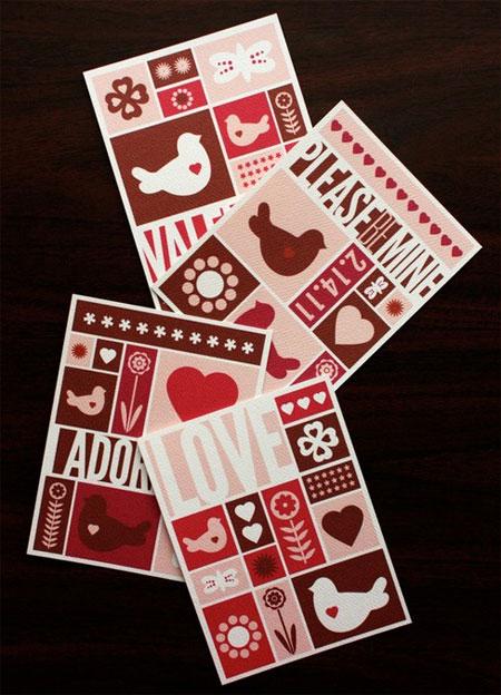 Printable Mid-Century Valentines