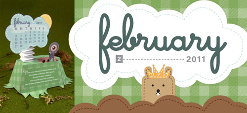 3d Groundhog Calendar Paper Toy