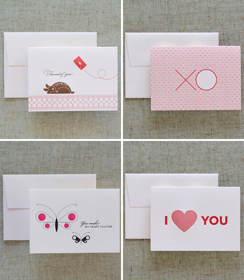Dee & Lala Letterpress Love Cards