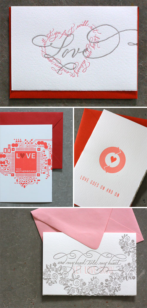 Dingbat Press Letterpress Valentine's Day Cards