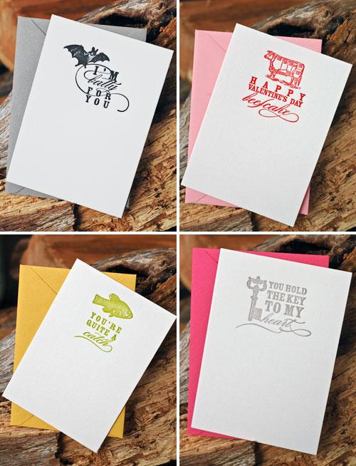 Haute Papier Letterpress Valentines